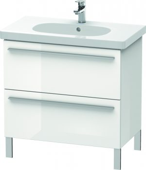 Duravit - X-Large Vanity Unit 668x800x470mm 2 Drawers - White High Gloss