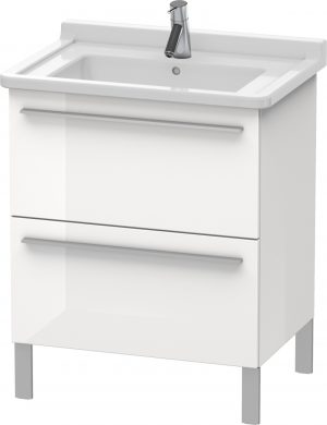 Duravit - X-Large Vanity Unit 668x650x470mm 2 Drawers - White High Gloss