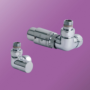 Bisque - Double Angled Thermostatic Valve Set M