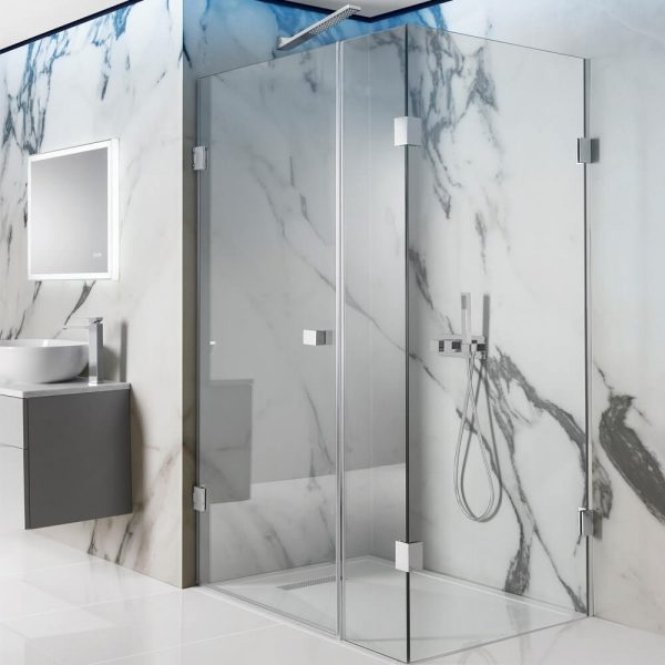 Crosswater – Zion Hinged Door with Inline Panel Shower Enclosure