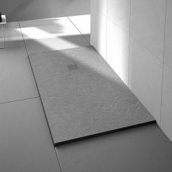 Truestone Square Tray Slate Fossil Grey 900 X 900mm