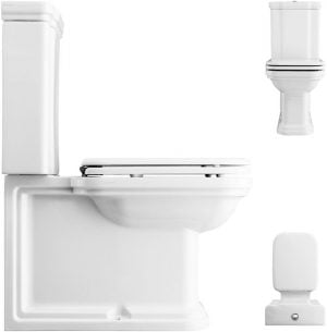 Crosswater - Waldorf Close Coupled Toilet - White