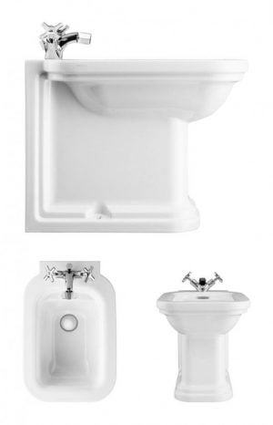 Crosswater - Waldorf Back To Wall Bidet 550mm 1 Tap Hole - White