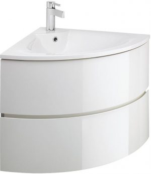 Crosswater - Svelte Corner Vanity Basin - White