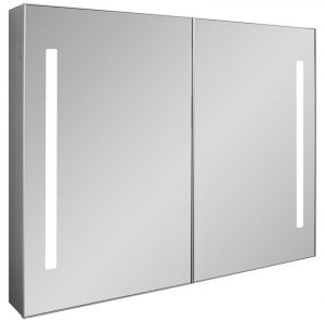 Crosswater - Allure 900 Mirrored Cabinet LED - Mirrored