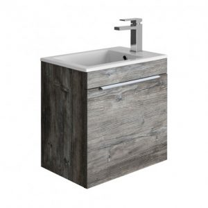 Crosswater - Zion Single Drawer Wall Hung Vanity Unit 490mm - Driftwood