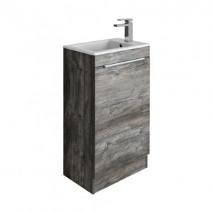 Crosswater - Zion Single Door Floorstanding Vanity Unit 490mm - Driftwood