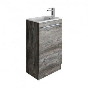 Crosswater - Zion Single Door Floorstanding Vanity Unit 490mm - Driftwood