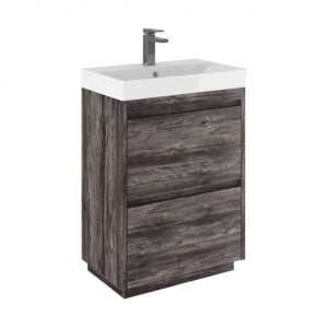 Crosswater - Zion Vanity Basin Unit 600mm - Driftwood