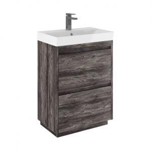 Crosswater - Zion Vanity Basin Unit 600mm - Driftwood
