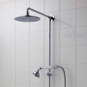 Imperial - Westminster Exposed Shower Kit with Slim Amena Overhead