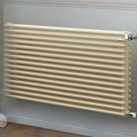 EX STOCK - ZEHNDER Kleo Towel Radiator in Cream Colour 647mm Height x 1600mm Width