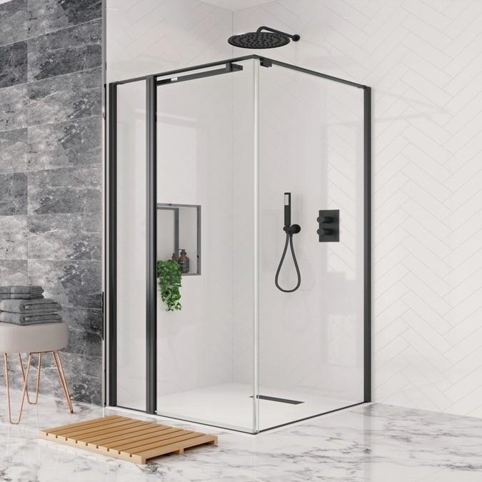 Crosswater Design Pivot Door With Inline Hush