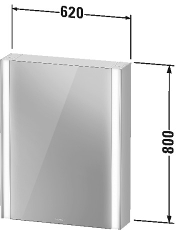 Duravit - XViu Icon Mirror Cabinet with Lighting 620mm