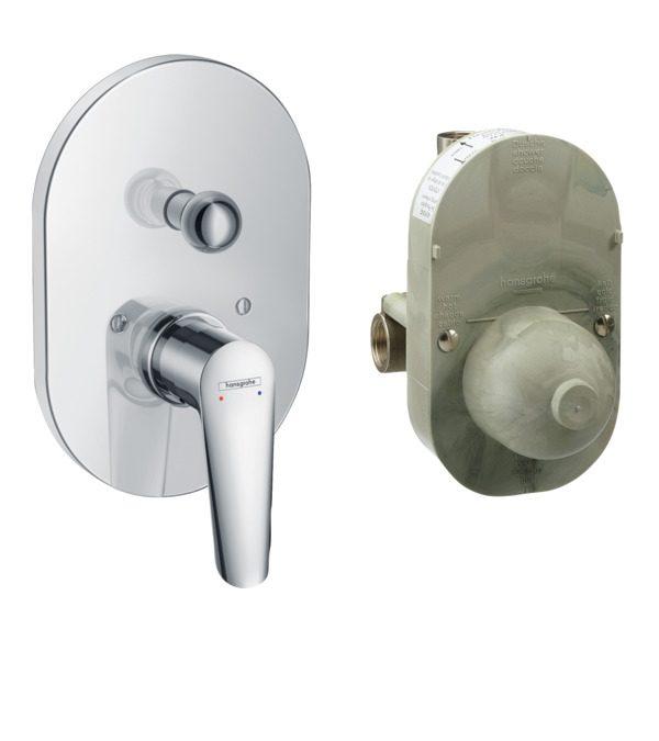 Hansgrohe - Logis E Manual Concealed Bath Mixer Set