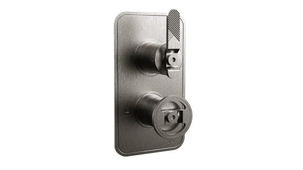 Crosswater - Union Concealed Thermostatic Shower Valve, Lever/Wheel Control