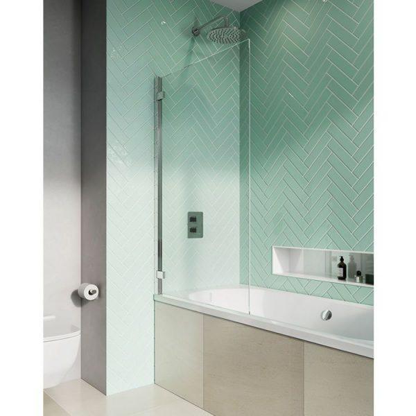 Infinity 8 Double Panel Fully Folding Bath Screen