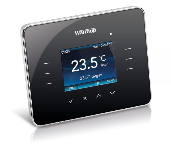 Warmup 3iE Thermostat - Piano Black